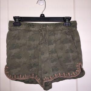 Camo Linen Shorts